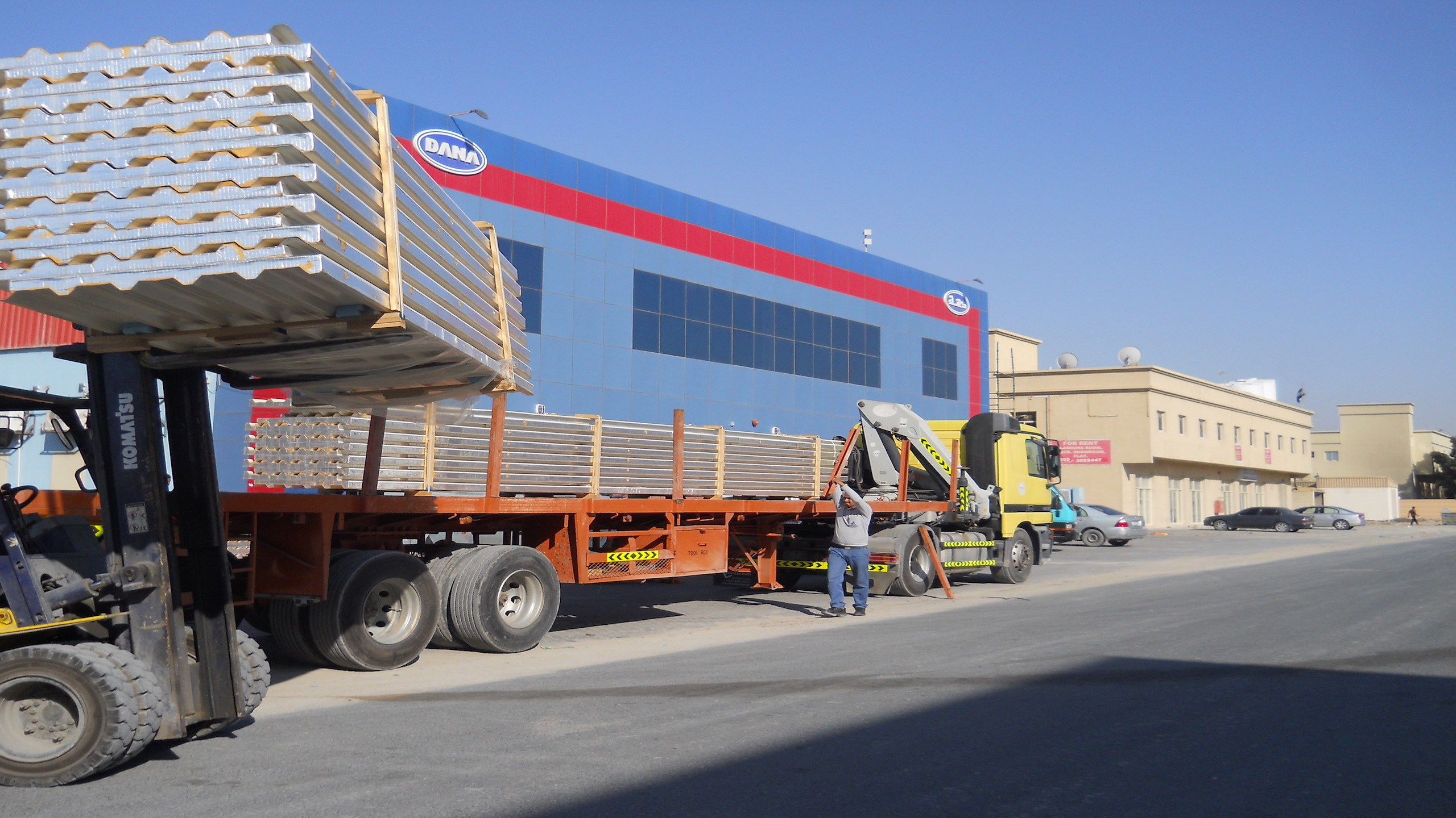 Dana steel oman - Supplier of profile corrugated Sheets,roof & wall sandwich panels,z purlins and accessories in OMAN
