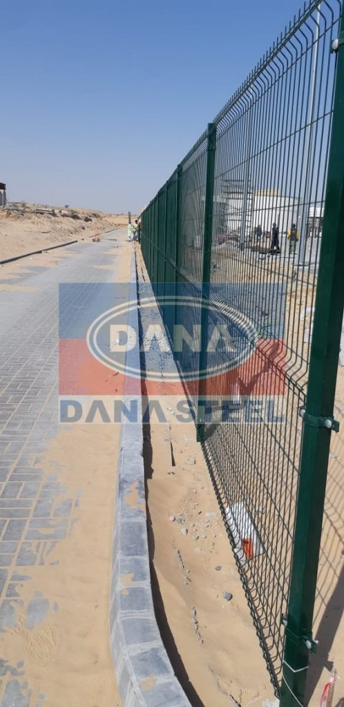 welded wire mesh green color fence supplier manufacturer in dubai uae